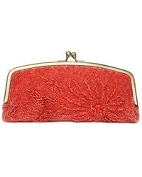 Nicole Miller Beaded Fold Over Clutch - Lyst