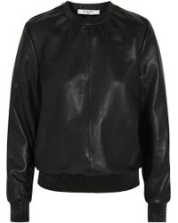 Givenchy Sweatshirt in Black Leather - Lyst