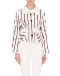 Sacai Tweed Peplum Jacket - For Women - Lyst