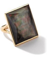 Ippolita - 18k Gold Gelato Medium Black Shell Baguette Ring - Lyst