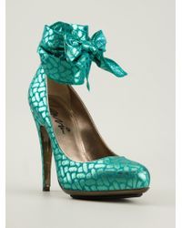 Lanvin Ribbon Tie Pumps - Lyst