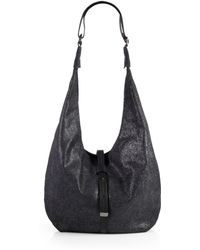 Halston Heritage Metallic Leather Hobo Bag - Lyst