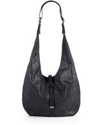Halston Heritage Metallic Leather Hobo Bag - Lyst