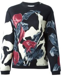 Carven - Floral Print Sweatshirt - Lyst