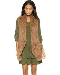 June Knit Fur Vest - Black - Lyst