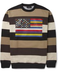 Givenchy Striped Flagprint Sweatshirt - Lyst