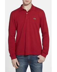 Lacoste Long Sleeve Pique Polo - Lyst