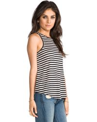 The Lady & The Sailor - Bare Striped Tank in Black - Lyst
