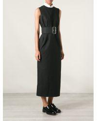 Comme Des Garçons Vintage Long Belted Dress - Lyst