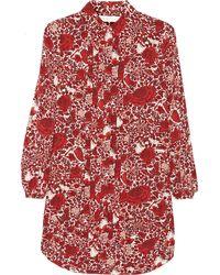 Tory Burch Cora Printed Silk Crepe De Chine Mini Dress - Lyst