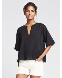 Banana Republic Embroidered Tunic - Lyst