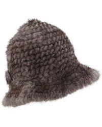 Belle Fare - Mink Fur Structured Bucket Hat - Lyst