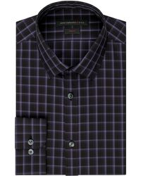 John Varvatos Slim Fit Grid Plaid Dress Shirt - Lyst