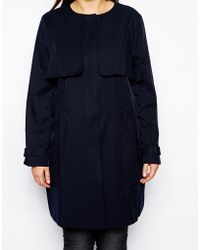 Asos Curve Exclusive Nautical Coat - Lyst