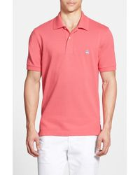 Brooks Brothers Cotton-Piqué Polo Shirt pink - Lyst