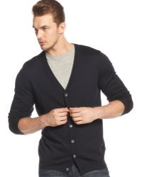 Hugo Boss Boss Mardon-d Slim-fit Cardigan Sweater - Lyst