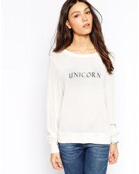 Wildfox Unicorn Baggy Beach Jumper - Lyst