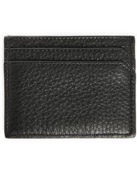 Maison Kitsuné | Black Leather Card Wallet | Lyst