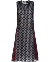 Vionnet Short Dress blue - Lyst