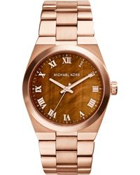 Michael Kors Womens Channing Rose Goldtone Stainless Steel Bracelet Watch 38mm - Lyst