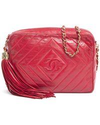 Chanel Pre-Owned Vintage Cc Tassel Camera Bag - Lyst