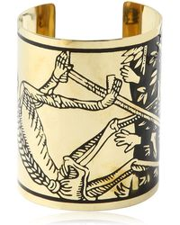 KTZ - La Mort Tarot Brass Cuff Bracelet - Lyst