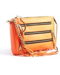 Rebecca Minkoff Orange Leather 5 Zip Convertible Crossbody Bag - Lyst