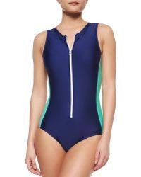 Splendid Soft Cup One-Piece Swimsuit - Lyst