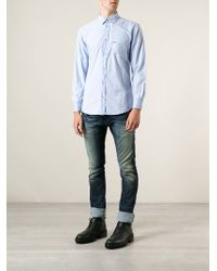 Diesel Blue Pocket Shirt - Lyst