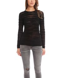 Helmut Lang Erroded Threads Pullover - Lyst