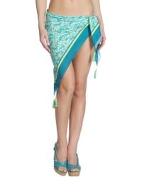 Twin-set Simona Barbieri Green Sarong - Lyst