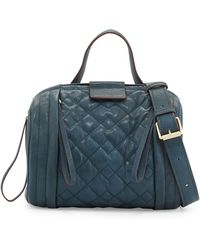 Marc By Marc Jacobs Motoquilted Barrel Bag Hopper Green - Lyst