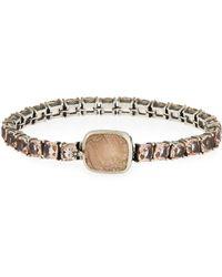 Stephen Dweck - Pale Quartz Crystal Bracelet W/carved Station - Lyst