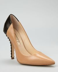 Boutique 9 Pumps Jacquelin Textured Heel brown - Lyst