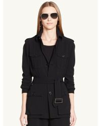 Ralph Lauren Black Label Belted Crawford Jacket - Lyst
