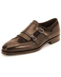 Ferragamo Marlin Double-Monk Shoe - Lyst