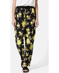 Topshop Floral Jogger Pants - Lyst