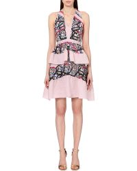 Peter Pilotto Circuit Peplum Dress - For Women pink - Lyst