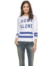 Zoe Karssen Home Alone Sweatshirt - Optical White - Lyst