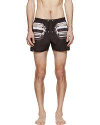 Neil Barrett - Black Nylon Roman Swim Shorts - Lyst