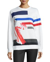 Prabal Gurung - Long-Sleeve Jewel-Neck Sweatshirt - Lyst