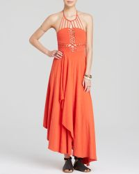 Free People Maxi Dress - Beautiful Stanger Knit red - Lyst