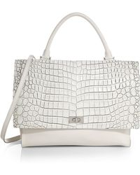 Givenchy Crocodile-Embossed Medium Shoulder Bag white - Lyst