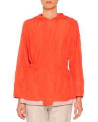 Piazza Sempione Hooded Painted Trimmed Anorak - Lyst