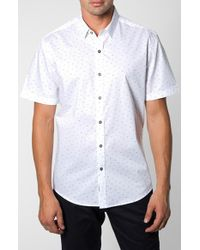 7 Diamonds 'Rising Tide' Trim Fit Short Sleeve Print Shirt - Lyst