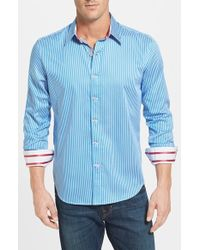 Robert Graham 'Off Shore' Tailored Fit Stripe Sport Shirt - Lyst