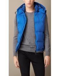 Burberry Down-filled Gilet with Detachable Hood - Lyst