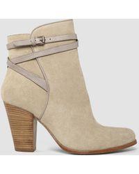 AllSaints Victoria Heel Boot beige - Lyst