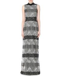 Rodarte Sequinned-Back Panelled Lace Gown - Lyst