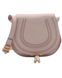 Chloé Pink Leather 'Marcie' Crossbody Bag - Lyst